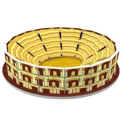 "3D Puzzle ""Mini Colosseum"" 8 τμχ"
