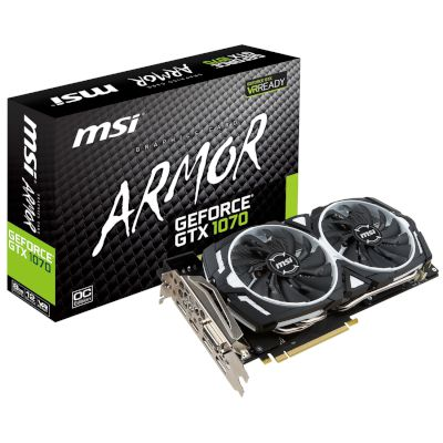 MSI VGA GeForce GTX 1070 Armor OC 8GB