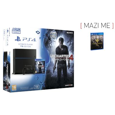 Sony Playstation 4 1 TB + Uncharted 4 A Thief's End + The Order: 1886