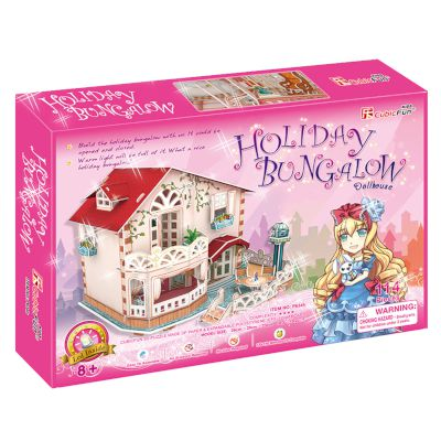 "3D Puzzle ""Holiday Bungalow Dollhouse"" (Led) 114 τμχ"