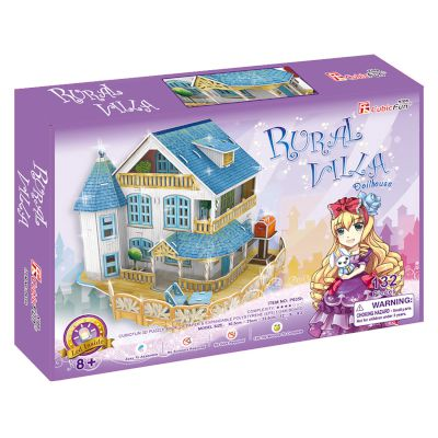 "3D Puzzle ""Rural Villa Dollhouse"" (Led) 132 τμχ"