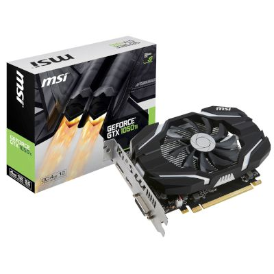 MSI VGA GeForce GTX 1050 Ti  4GB OC