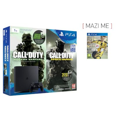 Sony Playstation 4 Slim 1 TB + Call of Duty Infinity + Fifa 17