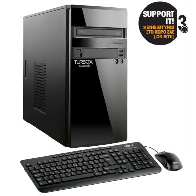 Turbo-X Flexwork Midi i5 7400 Desktop (Intel Core i5 7400/4 GB/1 TB//Intel HD Graphics)