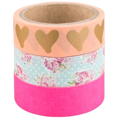 Σετ Washi Tape Hearts 3 τμχ