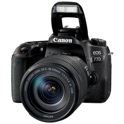 Canon DSLR EOS 77D EF-S 18-135mm IS STM Μαύρο