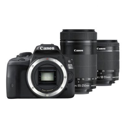 Canon DSLR EOS 750D Double Kit 18- 55mm + 55-250mm Μαύρο + Canon Connect Station CS100