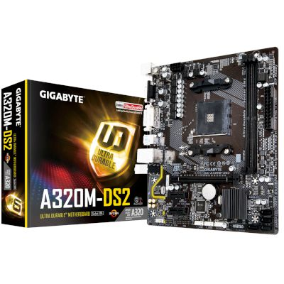 Gigabyte Motherboard A320M-DS2 (A320/AM4/DDR4)