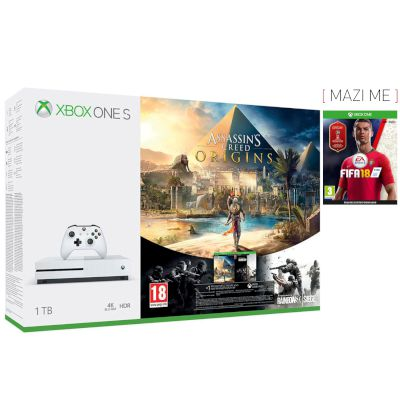 Microsoft Xbox ONE S 1 TB + Assassin's Creed Origins + Tom Clancy's Rainbow SixSiege