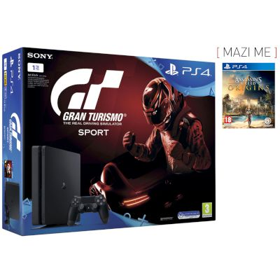 Sony Playstation 4 Slim 1 TB + Gran Turismo Sport + Assassin's Creed Origins