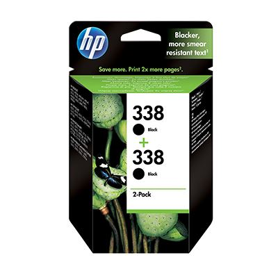 Μελάνι HP 338 Black Dual pack