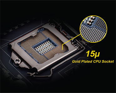 MB Z170-HD3 Gigabyte Gold Plated CPU slot