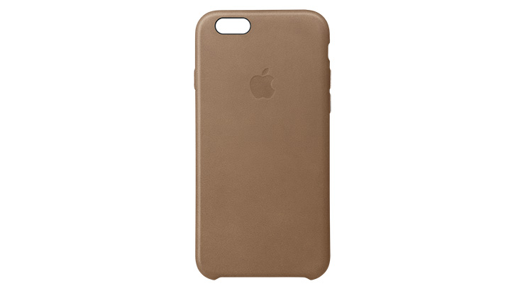 Apple Leather Case iPhone 6s Plus Brown