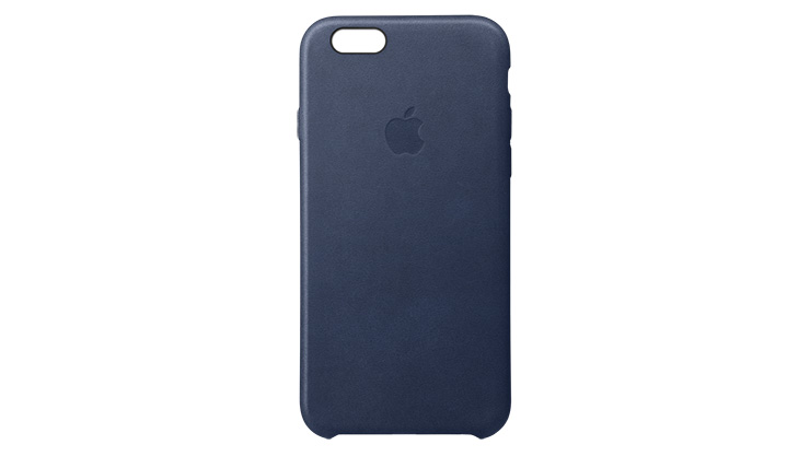 Apple Leather Case iPhone 6s Plus Midnight Blue