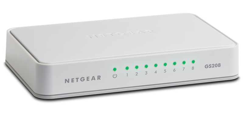 Switch 8-Port 10-100-1000Mbps GS208