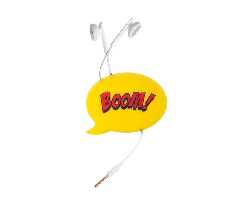 Χειριστής Ακουστικών Cable buddy Boom Κίτρινο