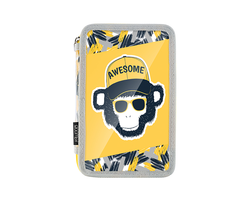 PENCIL CASE DOUBLE AWESOME MONKEY