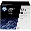 HP Toner HP 55X Black Dual pack 2127377