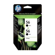 Μελάνι HP 56 Black Dual pack