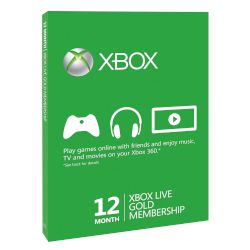 Microsoft Xbox Live Gold 12 months Gold Card