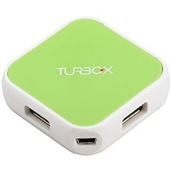 Turbo-X USB Hub 4 Port Πράσινο