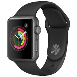 Apple Watch Series 1,38mm Space Grey Case -Black Sport Band