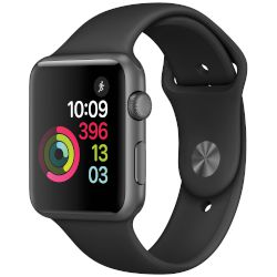 Apple Watch Series 1, 42mm Space Grey Case -Black Sport Band