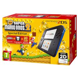 Nintendo 2DS Black & Blue + New Super Mario Bros 2 GR