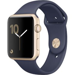 Apple Watch Series 1, 42mm Gold Aluminium Case -Midnight Blue Sport Band