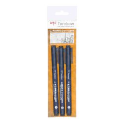 Tombow Fineliner Μαρκαδόροι 3 Τεμ