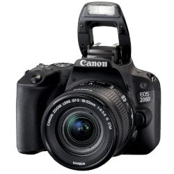 Canon DSLR Eos 200D 18-55 IS Black