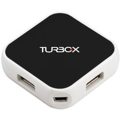 Turbo-X USB HUB 4-PORT, Μαύρο