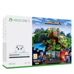 Microsoft Xbox ONE S 500 GB + Minecraft Complete Adventure Bundle