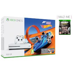 Microsoft Xbox ONE S 500 GB + Forza Horizon 3 + Hot Wheels DLC + Call Of Duty WWII
