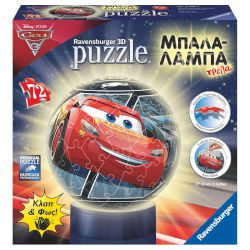 Ravensburger 3D Puzzle Μπαλα-Λαμπα Cars 3 72 Τεμ