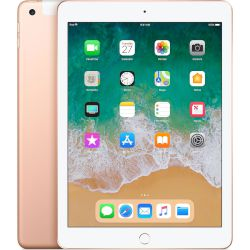 "Apple iPad WiFi-Cell 6Gen 128GB Tablet 9.7"" 4G Gold"