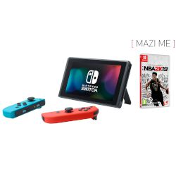 Nintendo Switch Red & Blue + NBA 2k19