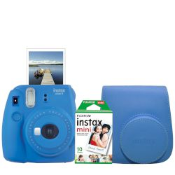 Fujifilm Instax Mini 9 Ice Blue Film & Θήκη