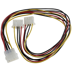 Turbo-X Καλώδιο Molex 4PIN Female σε 2*4PIN Male