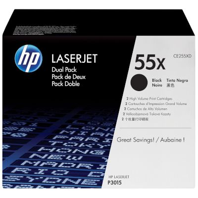 Toner HP 55X Black Dual pack