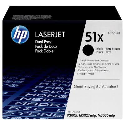 Toner HP 51X Black Dual pack