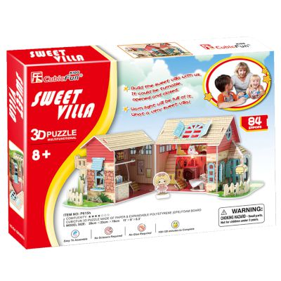 "3D Puzzle ""Sweet Villa"" (Led) 84 τμχ"