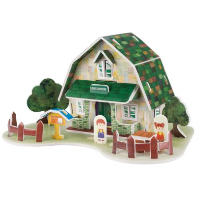 Sentio 3D Puzzle House Card Green 28 τμχ