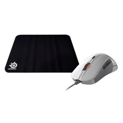 Steel Series Ποντίκι Rival 300 Wht + Mousepad Ενσύρματο