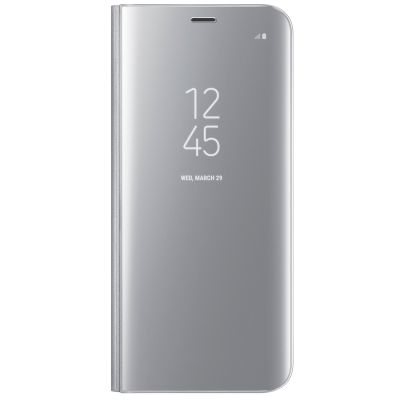 Θήκη Samsung Clear View Cover για Galaxy S8+ Ασημί