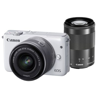 Canon Mirrorless EOS M10 15-45mm IS + 55-200mm IS Μαύρο