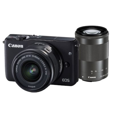 Canon Mirrorless EOS M10 15-45mm IS + 55-200mm IS Ασημί