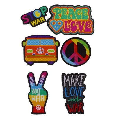 Puro Sticker ''Patch Mania'' Kit Peace&Love 6 patces