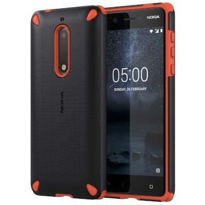 Θήκη Nokia Back Cover για Nokia 5 Orange-Black