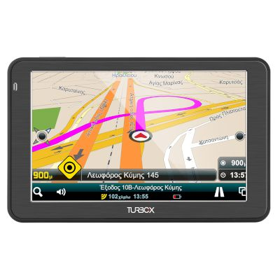 Turbo-X GPS Don't Panic Route 55 GR Με IPS Οθόνη